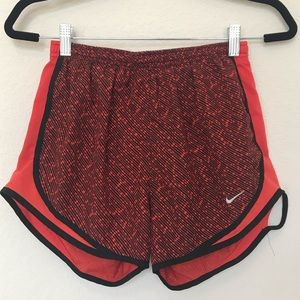 Nike Dry Fit Black and Red Printed Lined Shorts